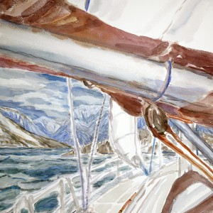 Final composition - View from Artic Ice for Boreal Yachting