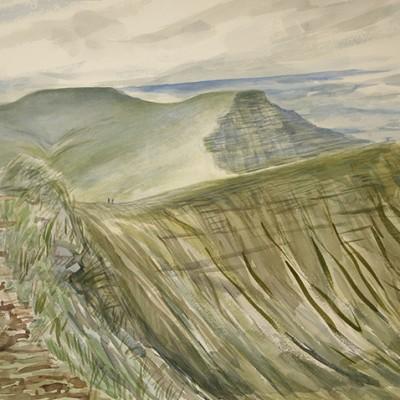 Brecon beacon Pen y fan mountain painting