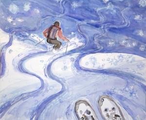 Skiing down Cevedale