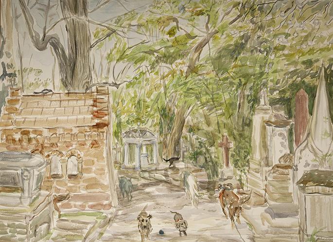 painting Stearns memorial Nunhead Cemetery