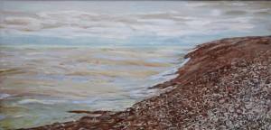 shingle beach seaside painting sea rip tide Lydd on Sea Kent