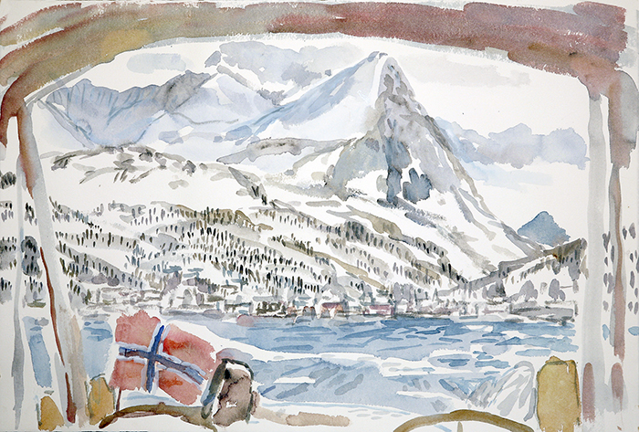 Rornesfjellet above Lyndseidet