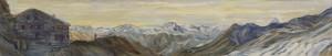 Alps painting sunrise rothorn hut zermatt