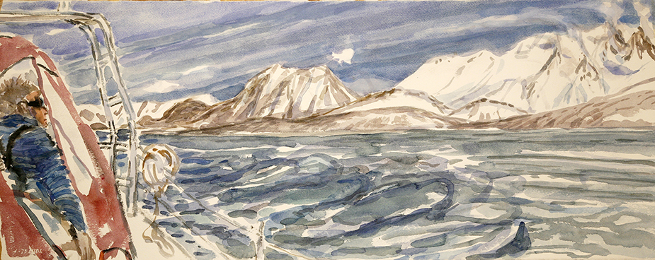Arctic Ice Boreal Yachting skiing painting ski Norway Arctic ice russelvfjellet nord lenangen boreal yachting
