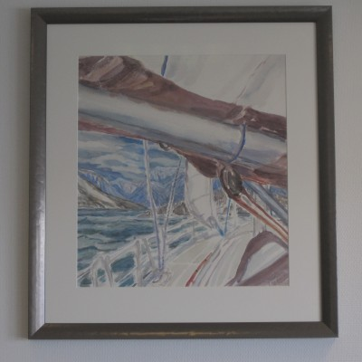 Bronze frame - in office of  Boreal Yachting in Tromso Norway