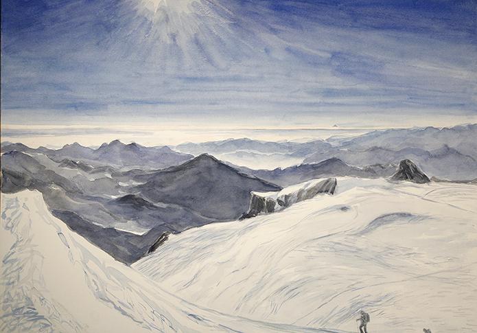 Breithorn Zermatt Switzerland alpine painting alps