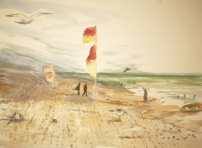 seaside painting camber sands