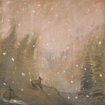 The First Snow of Winter - oil on canvas 30 x 30 cm £300