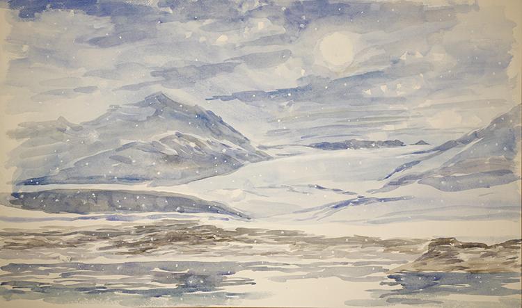 TRygghamna Fjord Svalbard