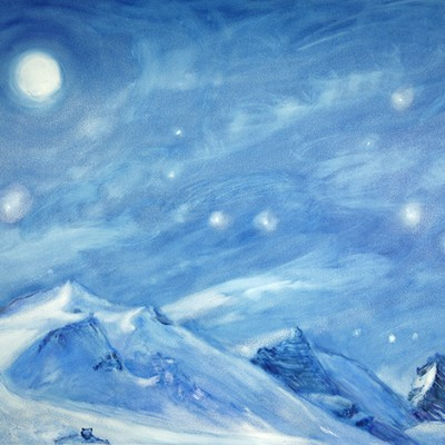 val d'Isère grand motte casse oil alpine art paintings