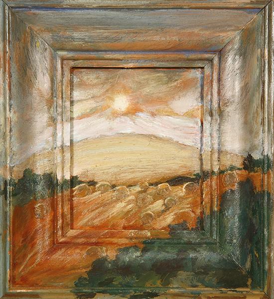 round hay bales oil paintings