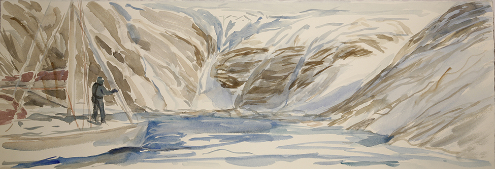 Jokelfjord Norway glacier to sea painting