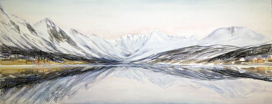 lenangsstraumen skiing painting ski Norway