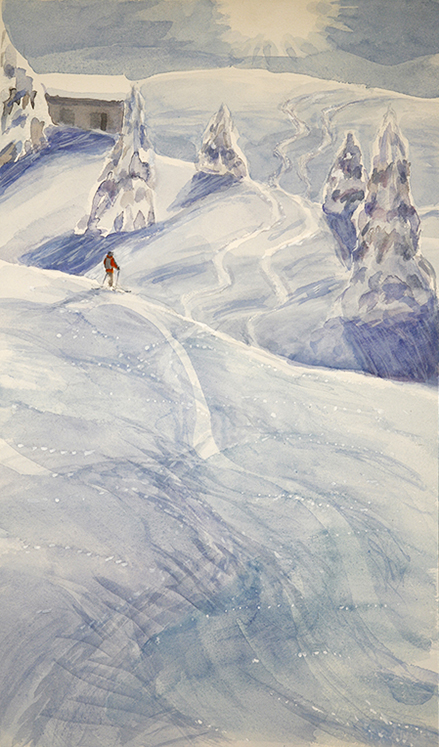 alpine painting Menigwald