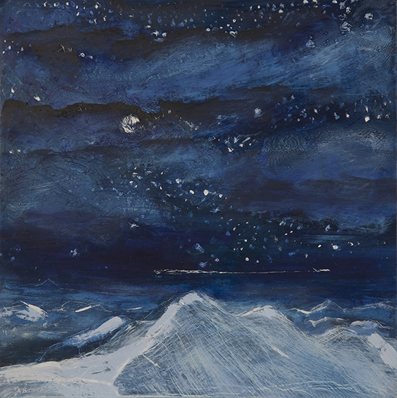 alpine painting night flight