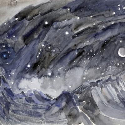 ospizio bernina sassal mason orion constellation ski skiing painting Alps