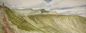 pen y fan wales brecon beacons fan y big cribyn corn dhu mountain painting