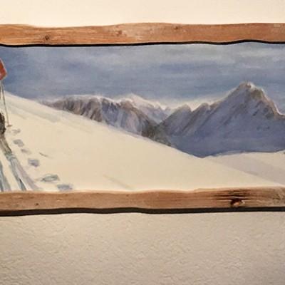 Douglas pine hand made frame