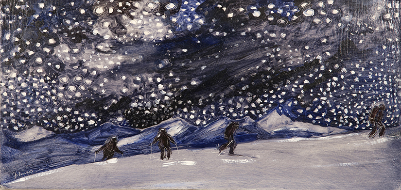 stars haute route alpine painting