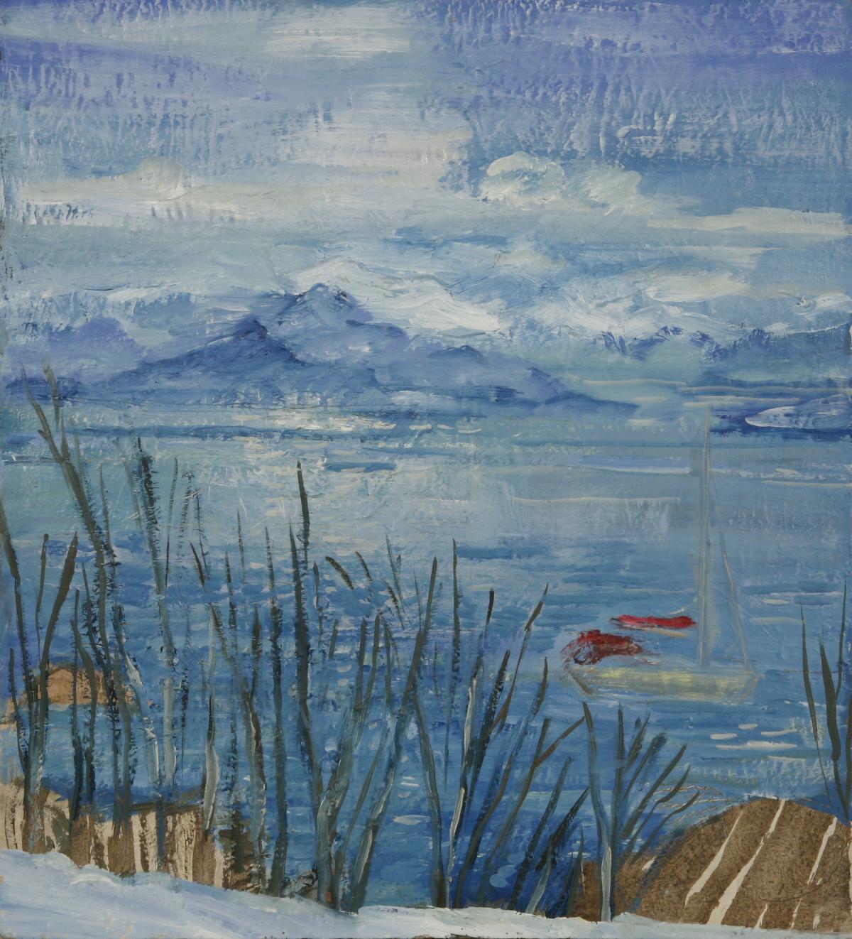 uloya lyngen fjordskiing painting ski Norway