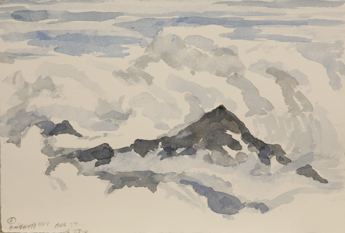 sketch from Gnifetti Hut