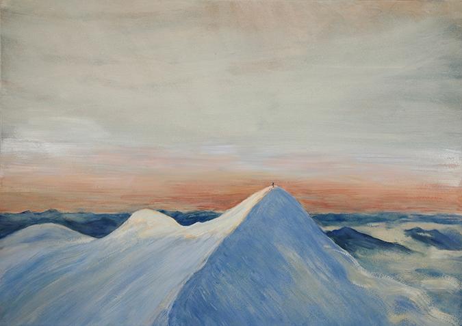 Castor 4000 meter peak alpine painting oil