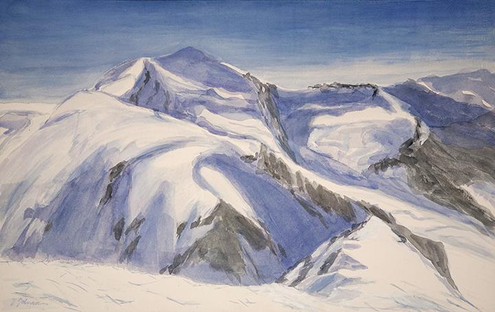 roccia nera alpine painting