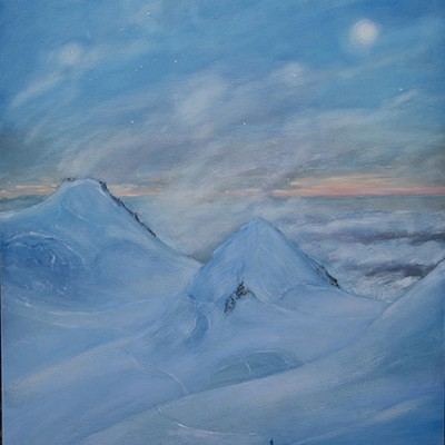 Memory of the Moon while Crossing the Glacier - oil on panel 91 x 61 cm £975 unframed