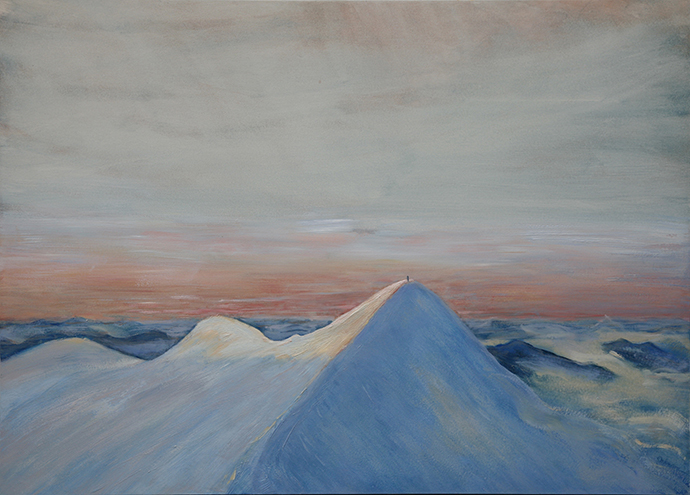 spaghetti tour Castor 4000 meter peak alpine painting oil