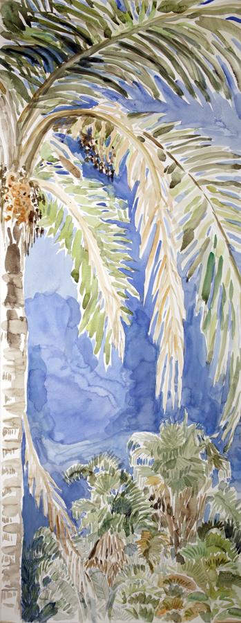 bangalow palm brisbane painting australia