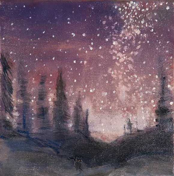 milky way stars pines USA