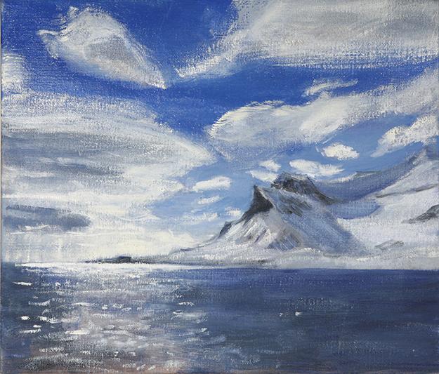 alkhornet svalbard alpine painting