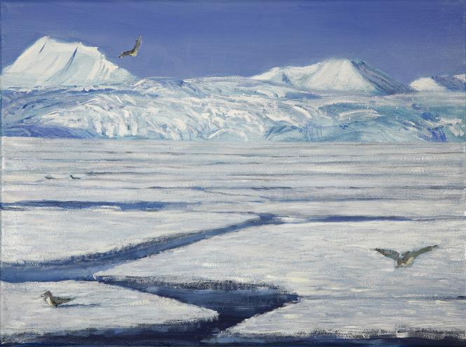 Nordskjoldbreen Svalbard oil painting
