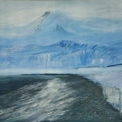 Svalbard Esmarkbreen - oil on claybord 30 x 40 cm £375 unframed