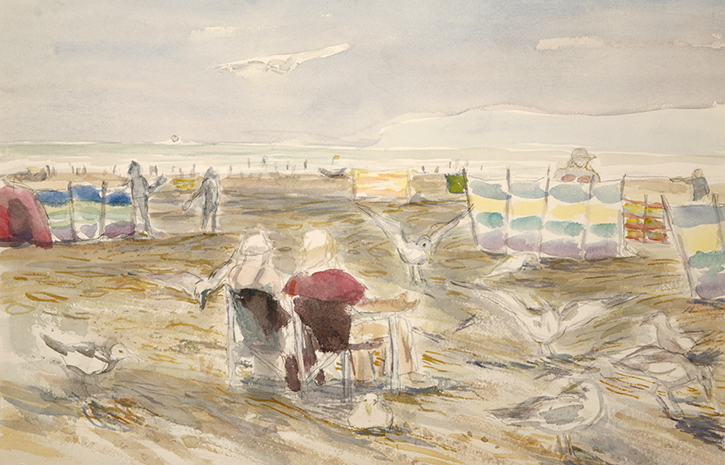 cambers sands beach painting