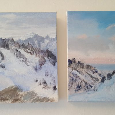 Small oils from Ecrins Haute Route April 2018
