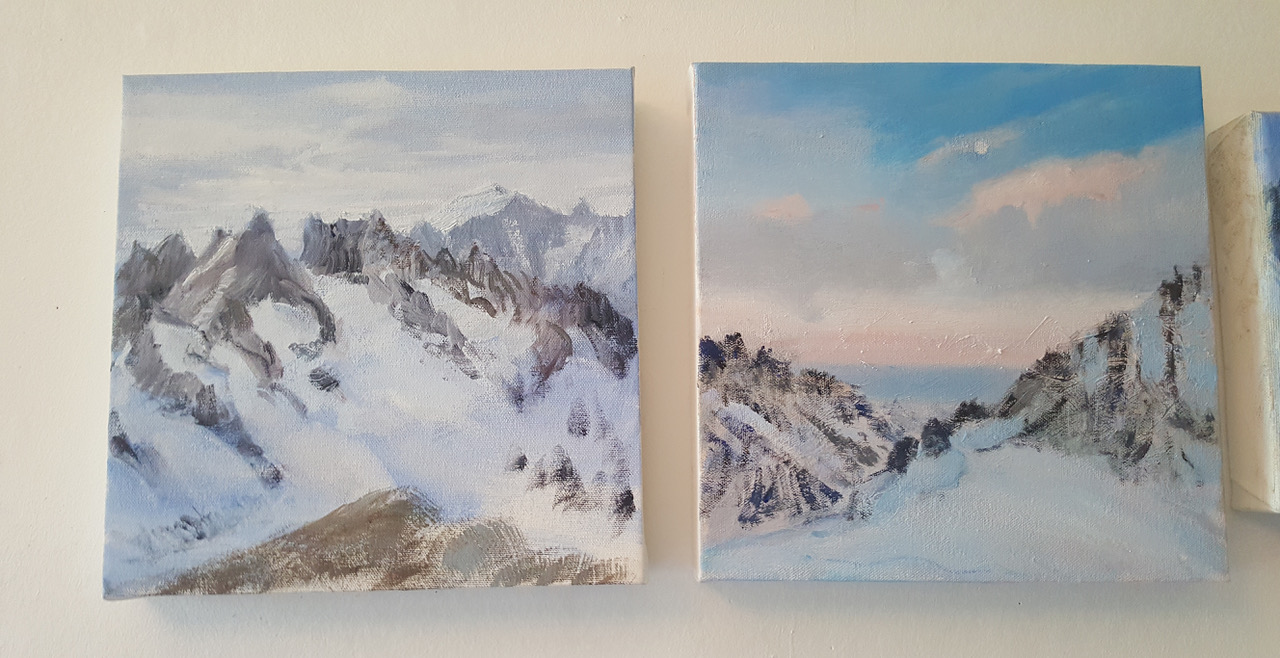 ecrins painting alpine