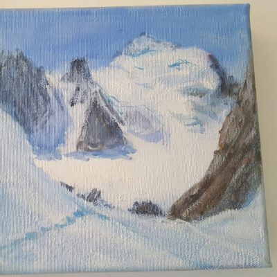 Barre de Ecrins oil on canvas April 2018