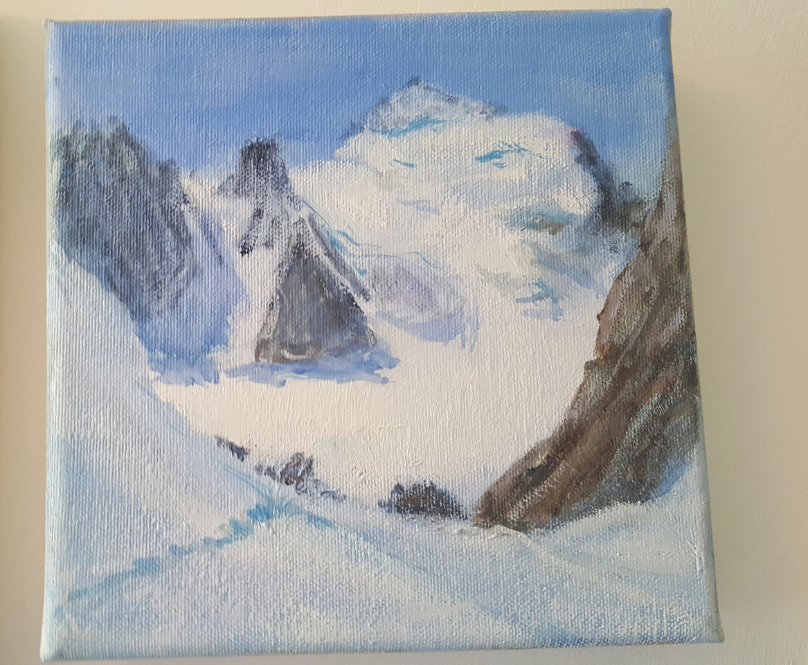 ecrins alpine painting barre and dome