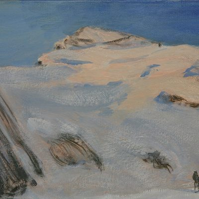dome de neige alps painting