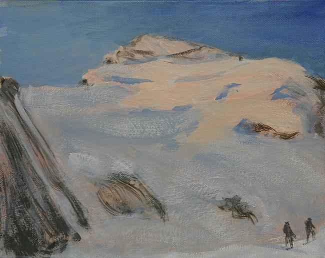dome de neige alps painting
