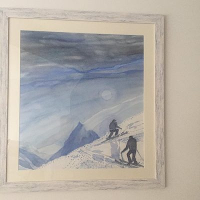 White distressed frame for watercolour