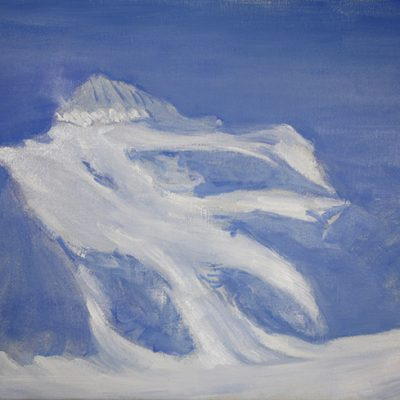 Afternoon Light Barre des Ecrins from the Refuge des Ecrins  - oil on linen canvas 51 x 70 cm