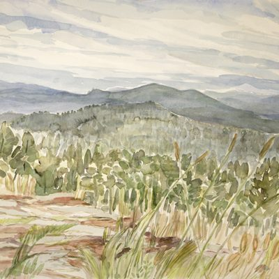 Mountain Ranges near Bethel Maine, from Paradise Road - watercolour on paper 55 x 75 cm £600