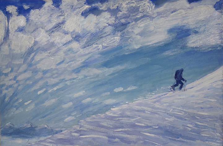 skinning Cervinia oil painting