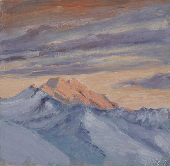 the Dom Switzerland alpine painting oil