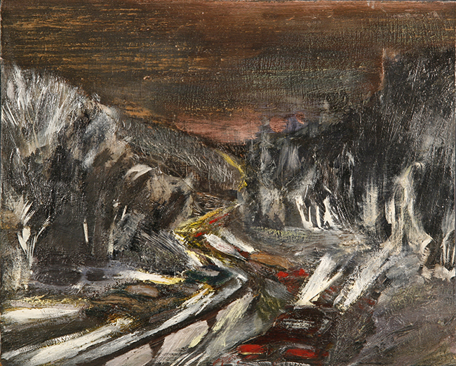 motorway austria alpine oil painting