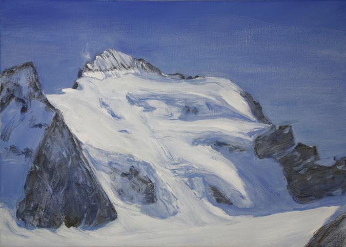 barre des ecrins dome des neige france alpine painting