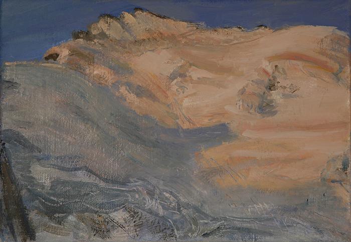 ecrins haute route dome des neige oil painting alpine