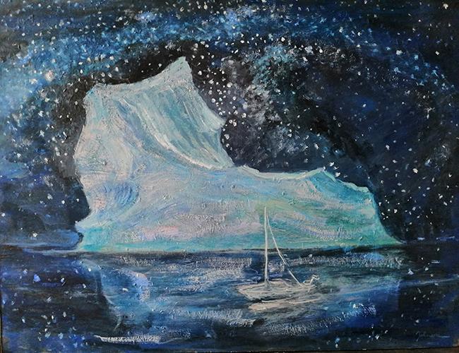iceberg oil painting